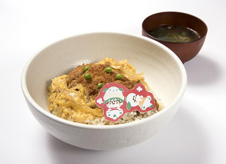 「勇利とポチャッコのだいまんぞく!まんぷくカツ丼」1590円(税抜)