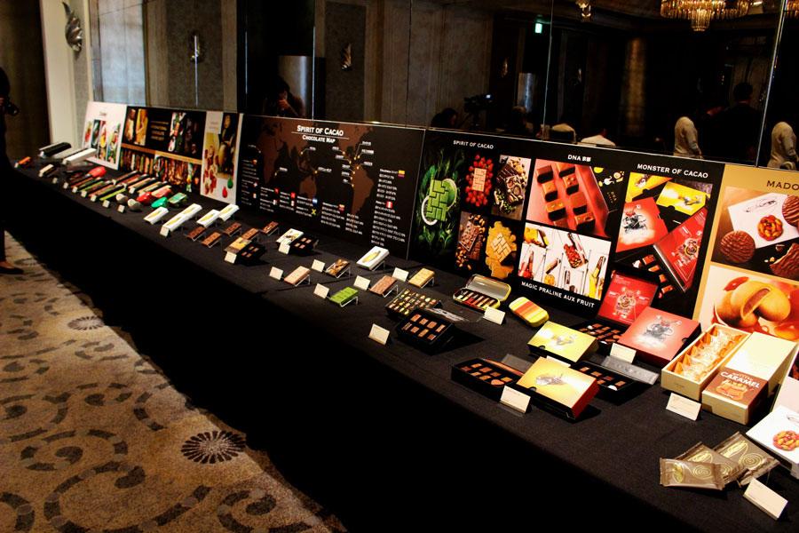 ボンボンショコラやタブレットなど、今年も多数の新作が発表された
