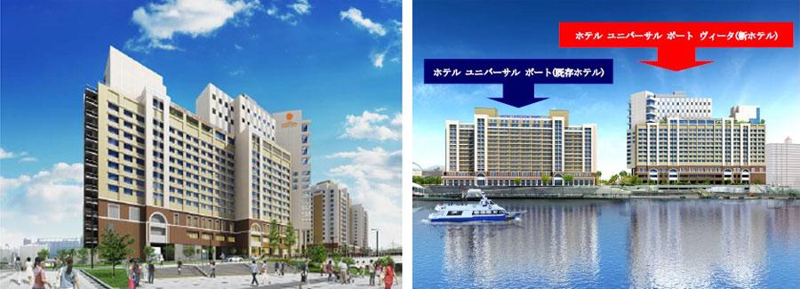 全428室の客室と直営のレストランを備えたホテルが、USJ横の川沿いにオープン