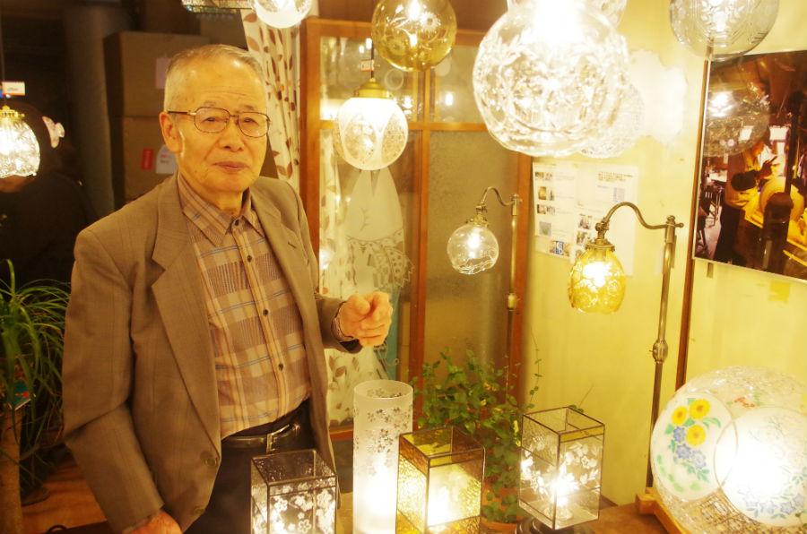 88歳となった今でも現役で活躍する切子職人・藤本幸治さん