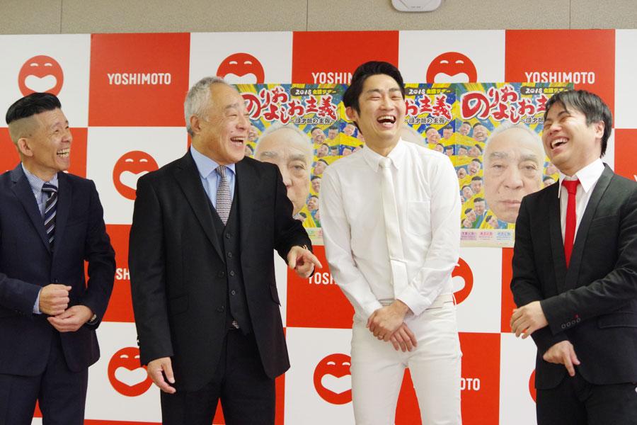 東京公演でゲスト登場するNON STYLEにも「石田にはこの前のことをしゃべってほしい」とのりお
