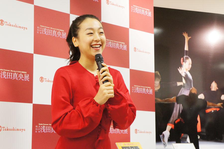 今年7月におこなわれたアイスショー以来の大阪。「昨日ホノルルから帰ってきて、現役最後の試合が大阪だったなと思い出しました」と浅田