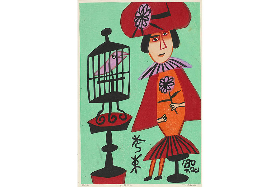 浅野竹二《赤いマント》1980年