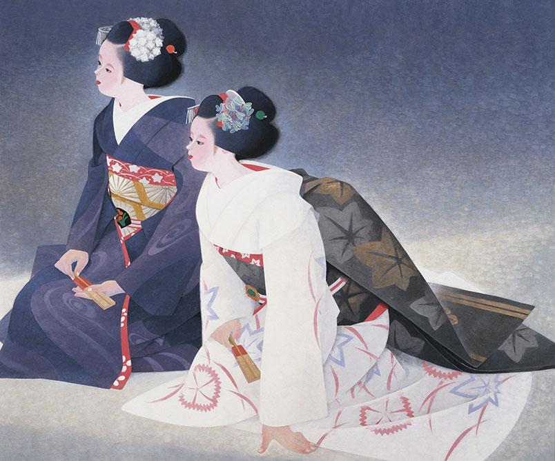 海老名正夫《出を待つ》1979(昭和54)年 京都市美術館蔵
