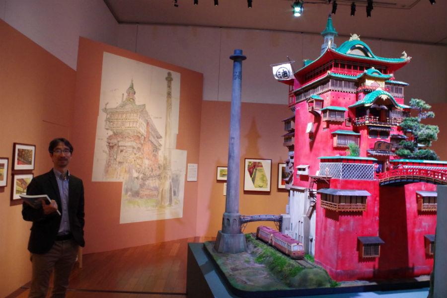スタジオジブリの橋田さん、そして『千と千尋の神隠し』の「油屋」模型とイメージボード
