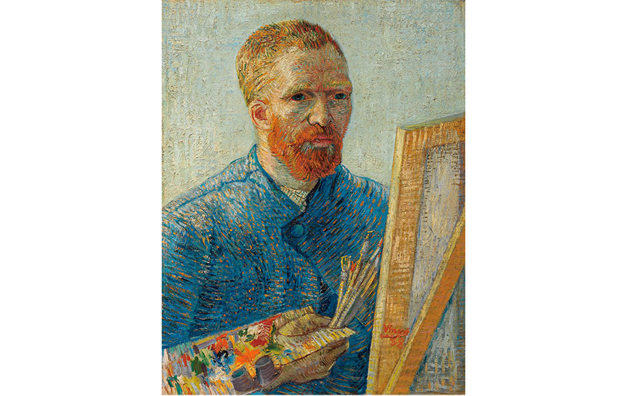 フィンセント・ヴァン・ゴッホ《画家としての自画像》1887/88年 ファン・ゴッホ美術館(フィンセント・ファン・ゴッホ財団)蔵 © Van Gogh Museum, Amsterdam (Vincent van Gogh Foundation)