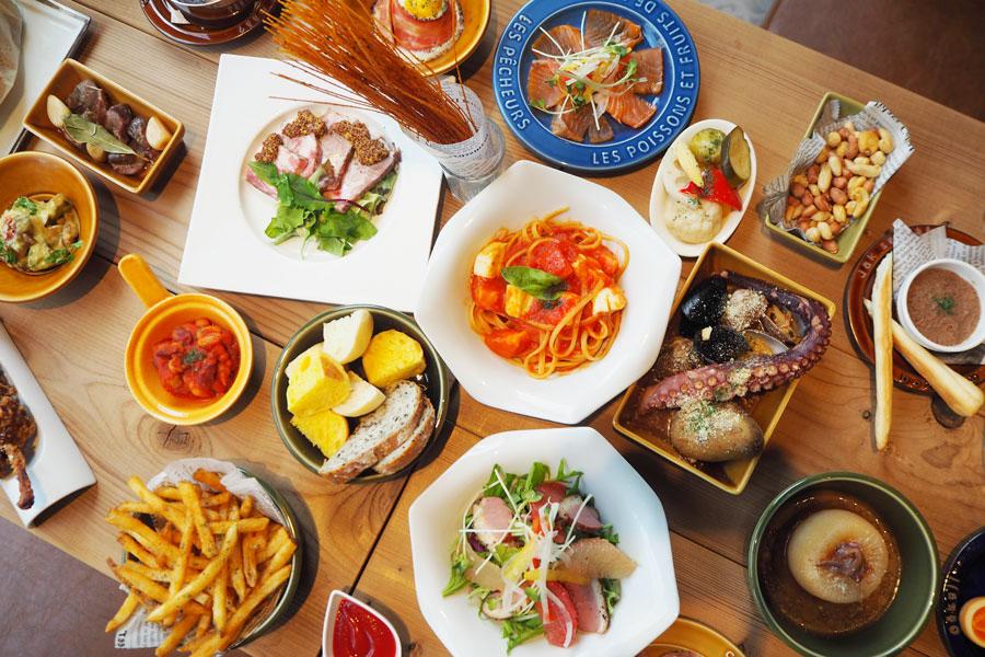 肉や海鮮料理、チーズやフリットなど試してみたいものばかり