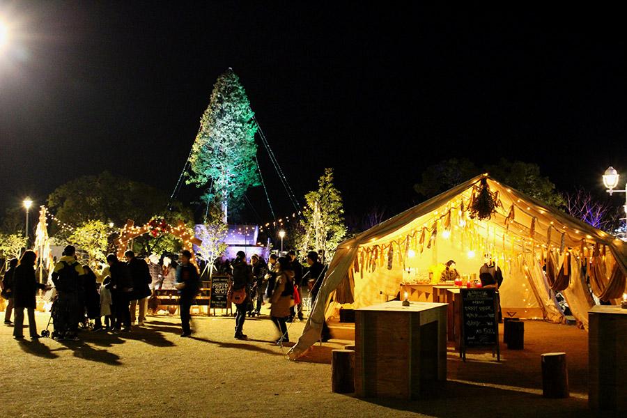 世界一のクリスマスツリーを背景に撮影できるフォトスポット(2日・神戸市内)