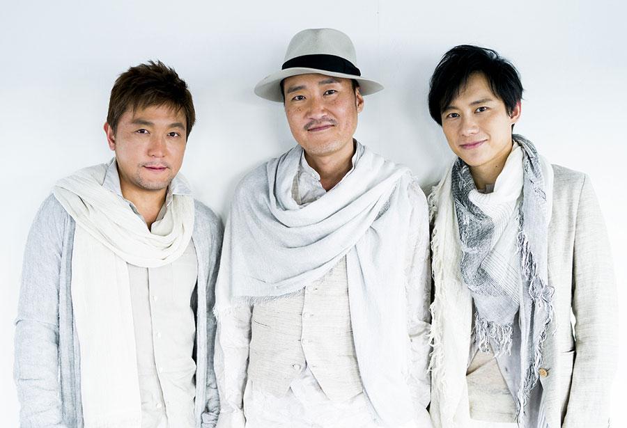 古武道のメンバー。左から古川展生、妹尾武、藤原道山