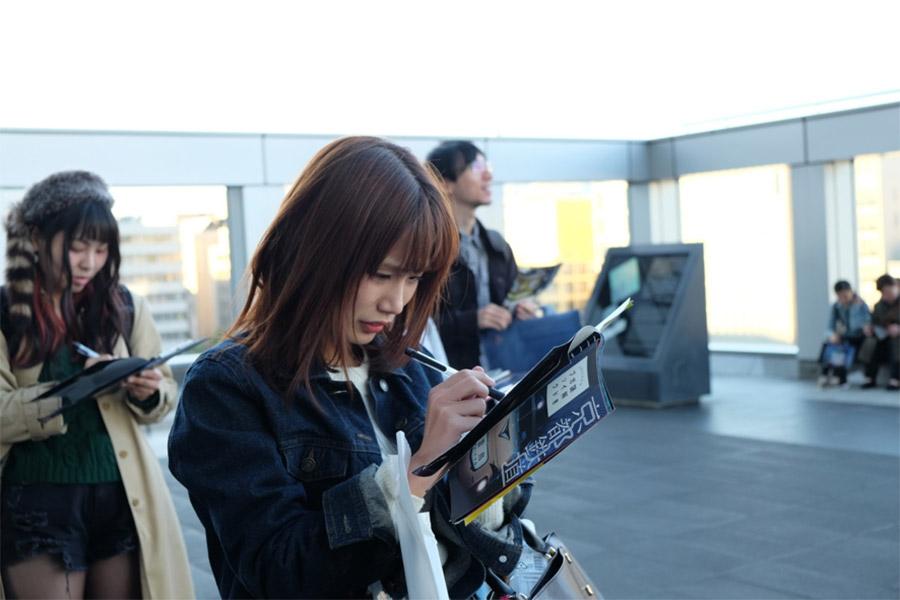 『京都鉄道ミステリー』を楽しむ参加者たち