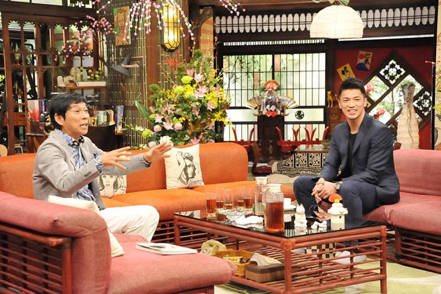 初対面となった奈良のスター・明石家さんまとの共演を喜んだ村田諒太