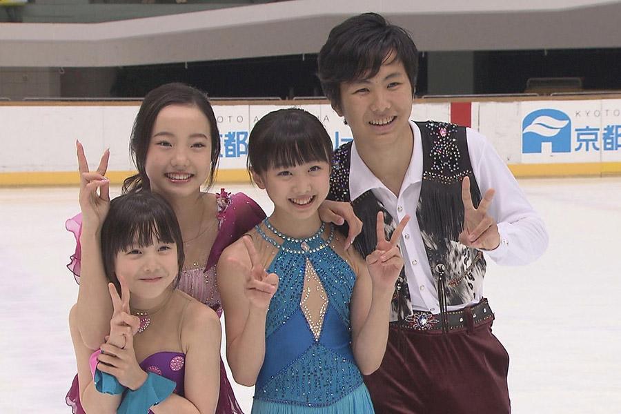 左から、末っ子・紗来、真凜、妹・望結、兄・太一の本田4兄妹