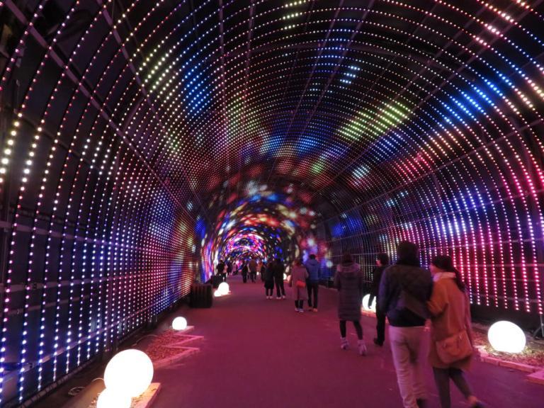 迫力のイルミロードが楽しめる『NESTA illumina(ネスタイルミナ)―光のさんぽみち―』
