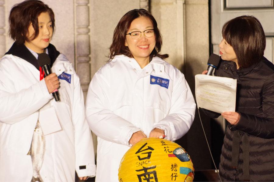 オープニングセレモニーに訪れた台南市政府観光旅遊局の王時思局長