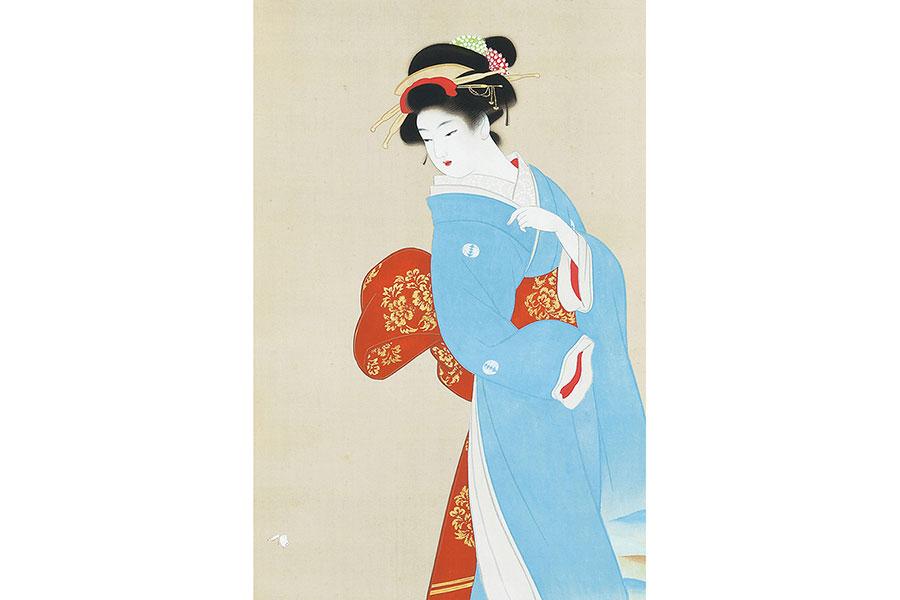 上村松園《春光》(部分)昭和初期 京都市美術館蔵
