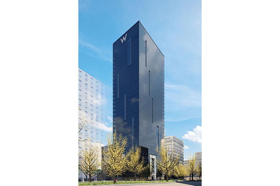 2021年2月に、大阪に誕生する「Wホテル」の外観イメージ