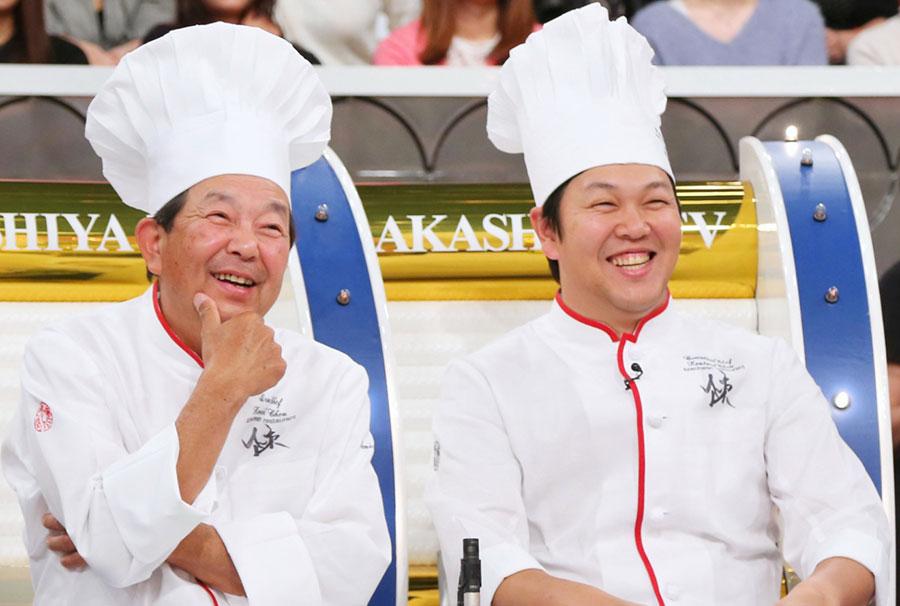 左から四川料理の陳建一・建太郎親子。「料理の味は一代限りだから」と言う建一