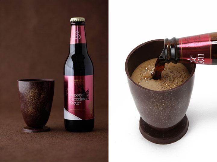 「インペリアルチョコレートスタウト」とチョコレートグラスのセット(ネットは送料込で2800円、店頭は2376円)