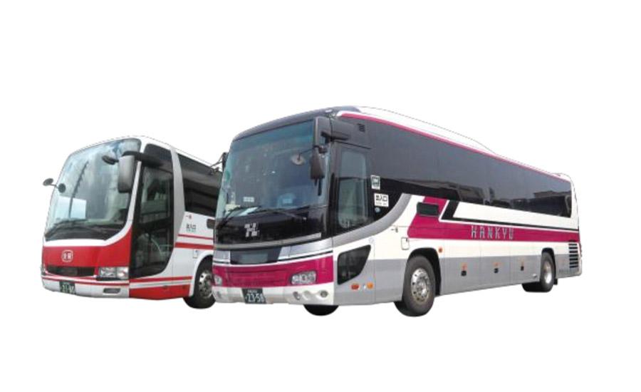 有馬温泉ー京都間を運行する「阪急バス」と「京阪バス」