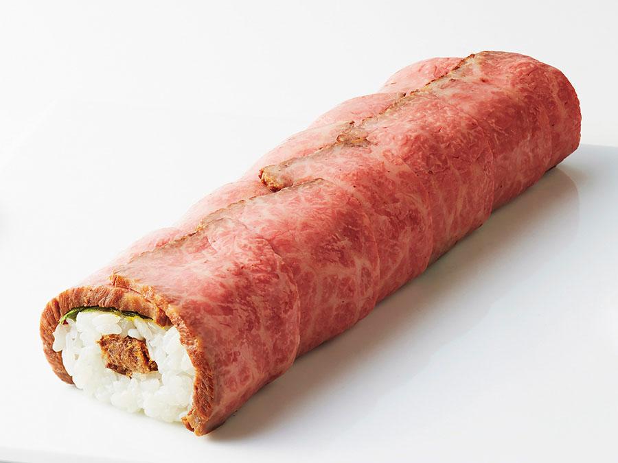 「柿の葉ずし総本家平宗」ローストビーフ巻き4501円(10本限定)