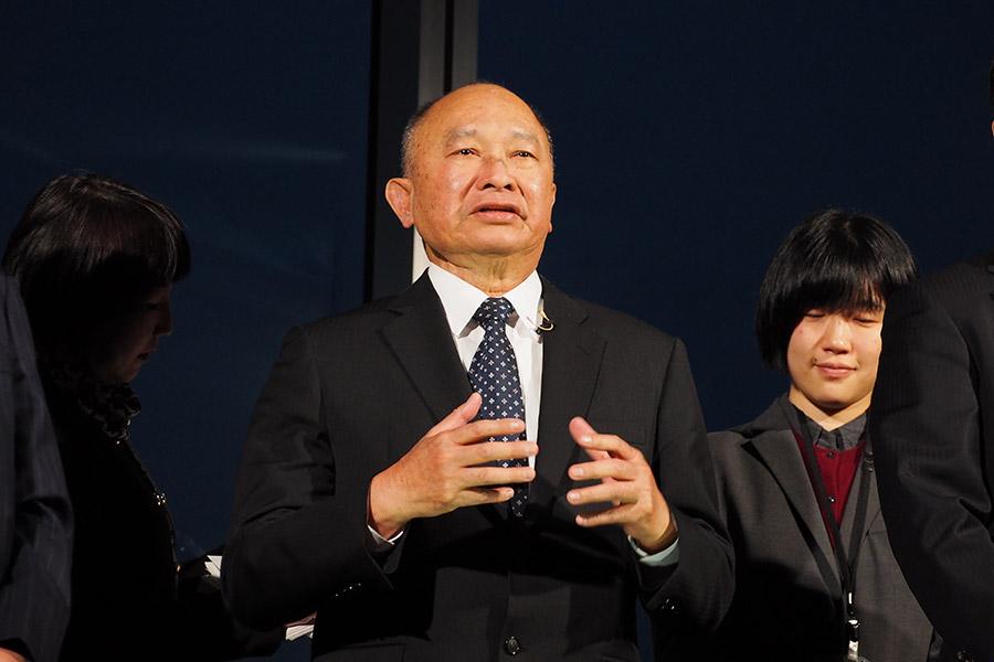 映画『マンハント』完成報告会に登場したジョン・ウー監督(31日・大阪市内)