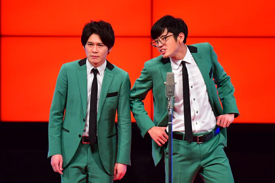 よしもと漫才劇場『男前&ブサイク芸人ランキング』では1位の多田(左)と4位だった桑原