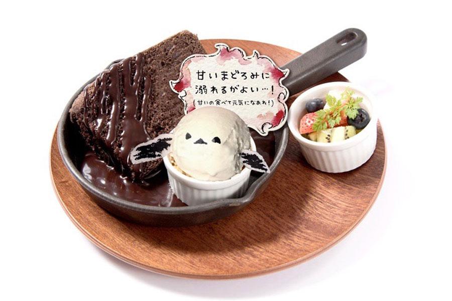 「深淵の闇に溺れ永遠の眠りにつくがよい・・・!あま~いまどろみチョコケーキ」(1501円)