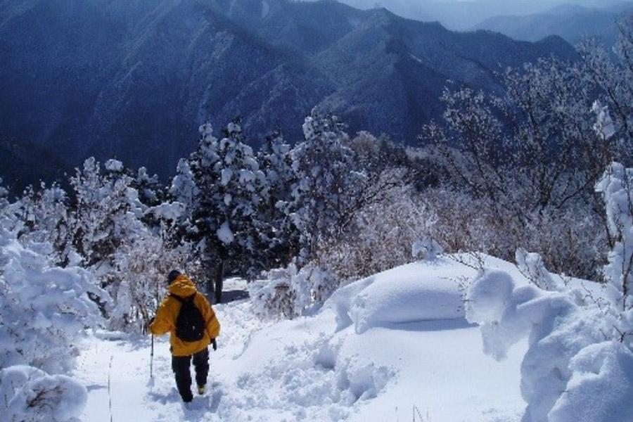 奈良「観音峯・洞川温泉」(吉野郡天川村)の冬の景色