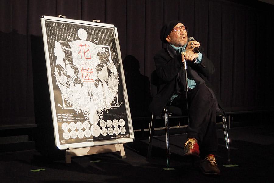 映画『花筐HANAGATAMI』大阪初日に舞台挨拶をおこなった大林宣彦監督(27日・大阪市内)