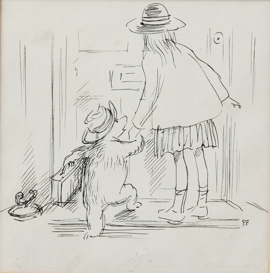 ペギー・フォートナム画『くまのパディントン』の挿絵原画、1958年 Illustrated by Peggy Fortnum ©Padington and Company Ltd 2018