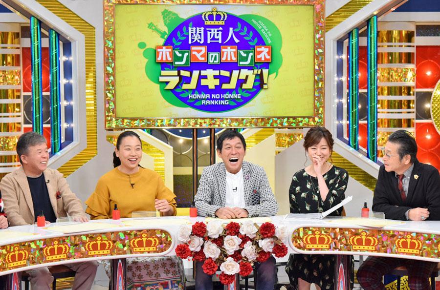 左から、村上ショージ、いとうあさこ、明石家さんま、豊崎由里絵(MBSアナウンサー)、間寛平