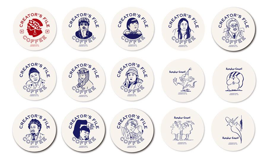 カフェ限定商品の「クリエイターズ 豆皿」各800円