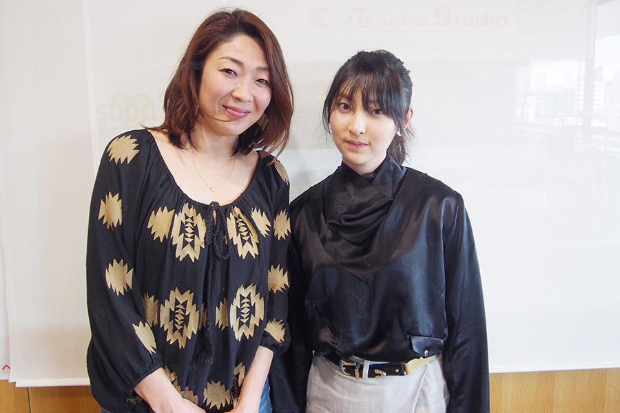 FM OH!『hug+』DJ・大塚由美と家入レオの2ショット