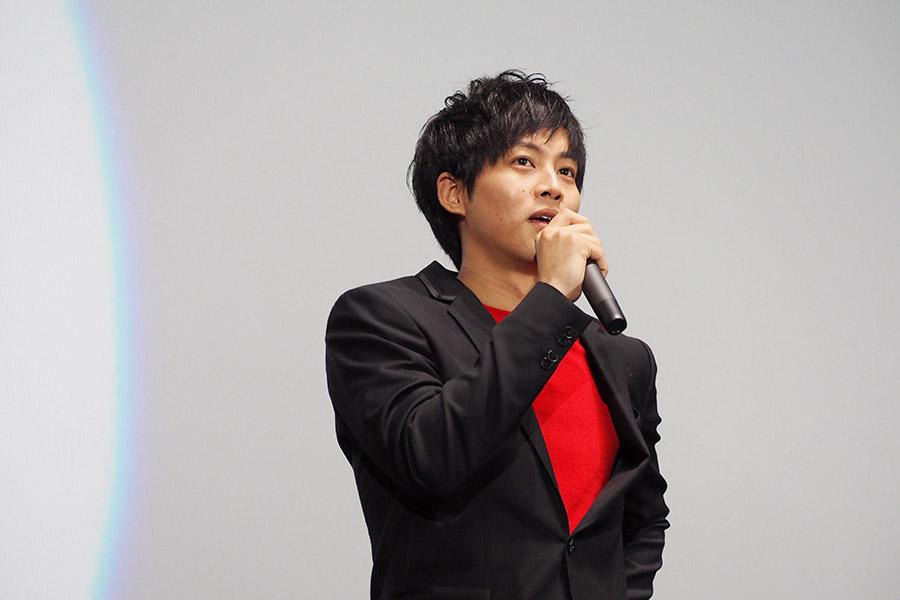 主演映画『不能犯』の舞台挨拶に登場した松坂桃李(3日・大阪市内)