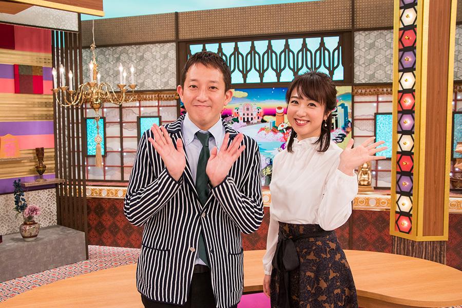 大阪の新常識に迫る特番のMCを担当する(左から)サバンナ高橋茂雄、川田裕美