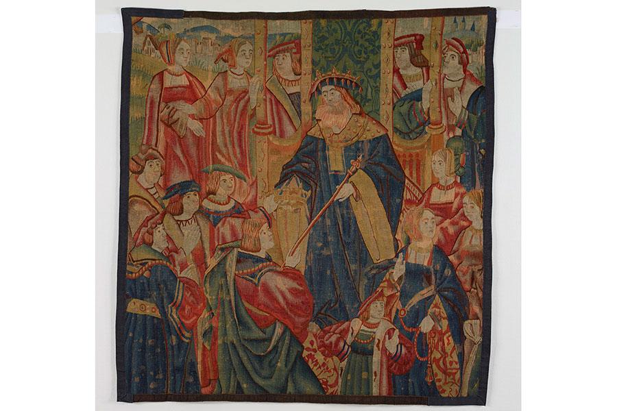 《預言者サムエルと少年ダビデ》 16-17世紀 女子美術大学美術館蔵
