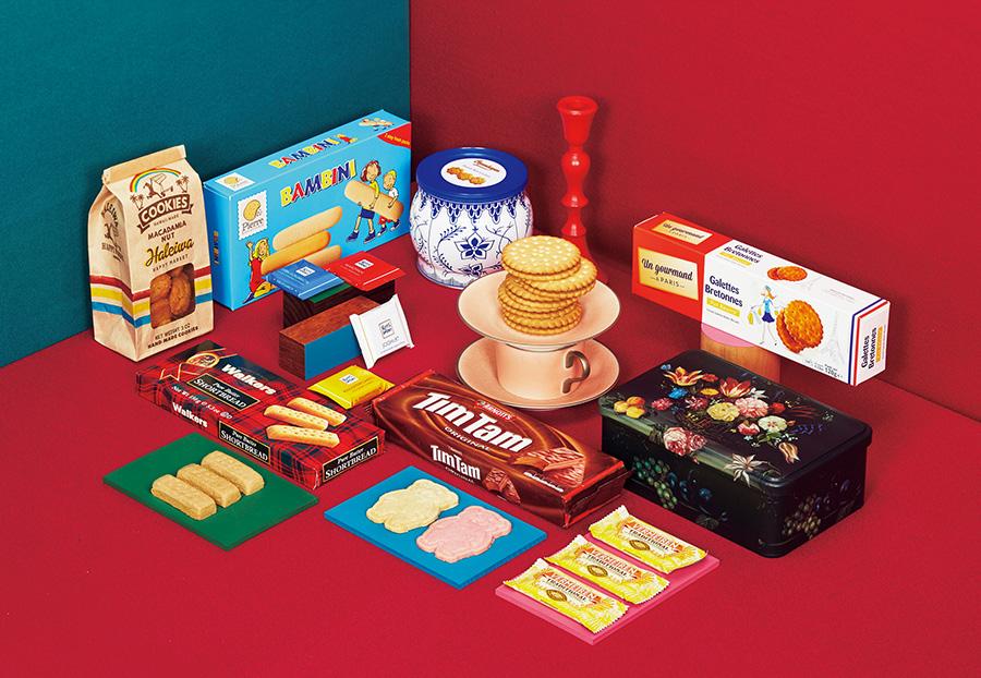 海外のクッキーは12カ国から約50種のクッキーがそろう。パッケージのかわいさも魅力