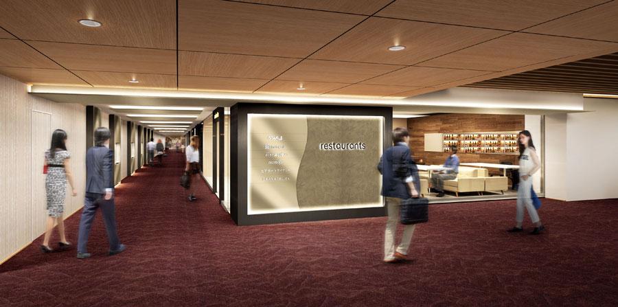 「DEAN & DELUCA CAFE」や「大阪エアポートワイナリー」が登場する3階は、落ち着いた雰囲気となるレストランゾーンに。イメージ図