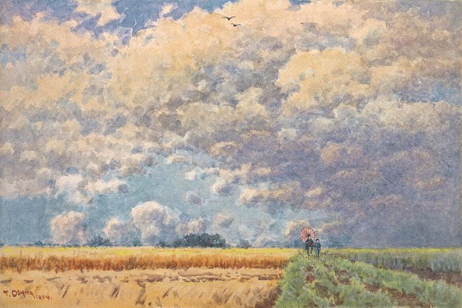 《秋の雲》1904年 島根県立石見美術館蔵