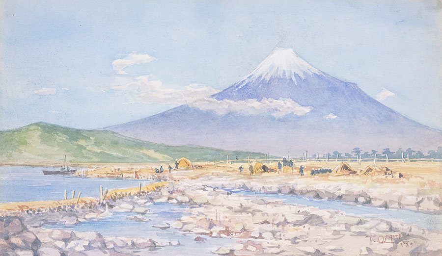 《富士を望む》1897年 島根県立石見美術館蔵