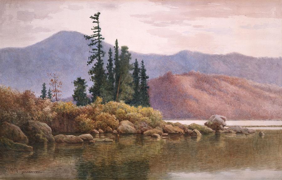 《檜原湖の秋》1907年 島根県立石見美術館蔵