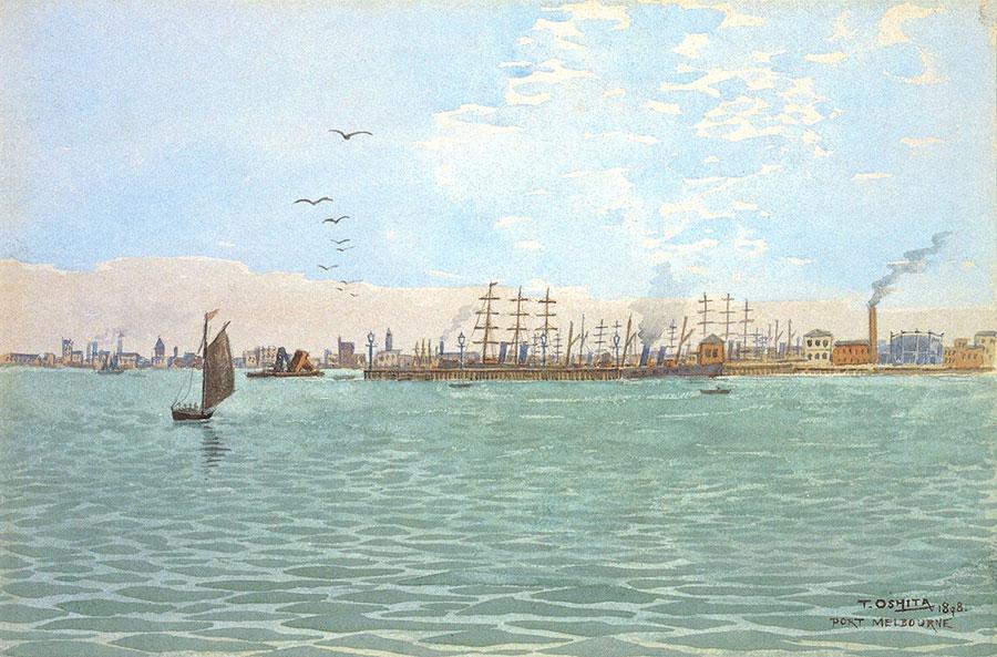 《メルボルン港》1898年 島根県立石見美術館蔵