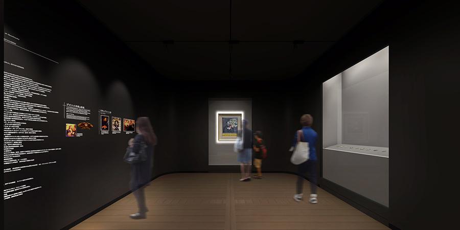 「聖フランシスコ・ザヴィエル像」を中心に日本美術や、キリシタン資料を展示する「ザヴィエルルーム」