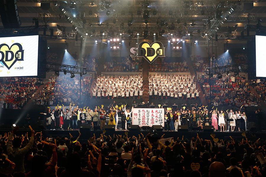 スターダスト・レビューやTRF、藤井フミヤ、山崎育三郎、和楽器バンド、Dream Ami、水谷果穂、Mrs.GREEN APPLE、CRAZY BOYらが出演した『LIVE SDD 2018』(17日、大阪城ホール)