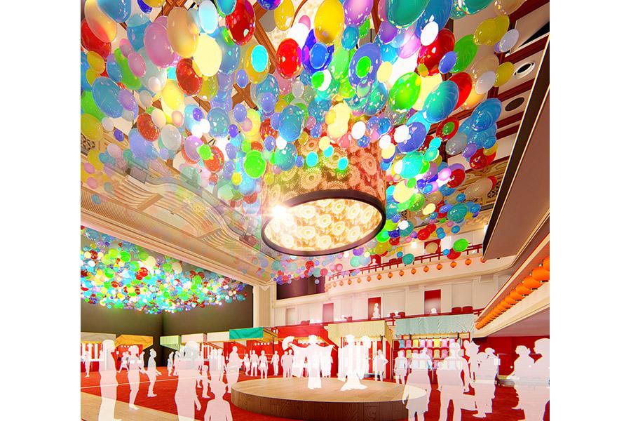 舞台と客席空間を自由に活用するエンタテインメントのイメージ