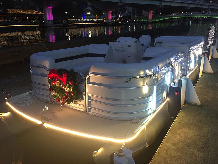 リムジンボートの運航も、1隻2万円