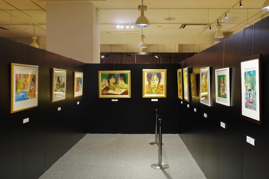 清志郎の個展のごとく、数多くの作品が展示されている