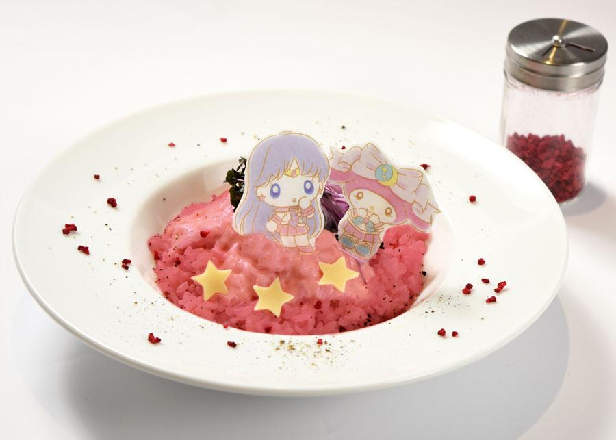 セーラーマーズとマイメロディのお星様チーズリゾット(1290円)