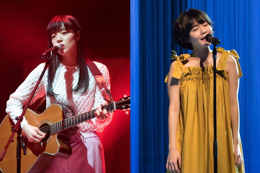 『SONGS』に登場するあいみょん(左)と吉澤嘉代子