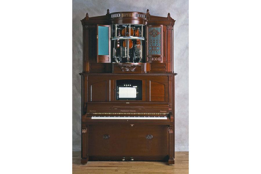 現存する約60台の大多数が演奏できる状態ではないとされ、復元品も10数台しか作られていない貴重な楽器・フォノリスト・ヴィオリーナ
